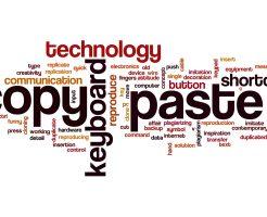 Copy paste word cloud concept