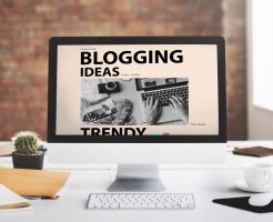 Blogging Ideas Content Connecting Vision Web Concept